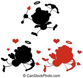 Cupid Silhouettes 1. Collection Set