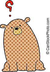 cartoon curious bear