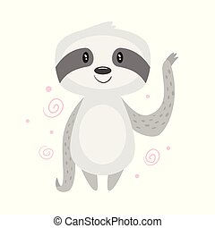 cartoon cute animals - Vector cartoon style illustration of...