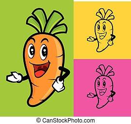 Cartoon cute carrot