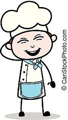 Cartoon Cute Chef Smiling Face Vector
