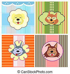 cartoon cute dogs