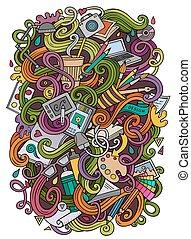Cartoon cute doodles design illustration - Cartoon cute ...