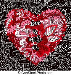 Cartoon Cute Doodles Valentines Day Heart