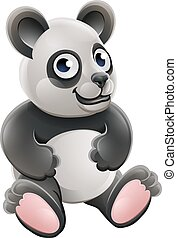 Cartoon Cute Panda Bear Animal
