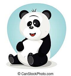 Cartoon Cute Panda Character