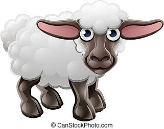 Cartoon Cute Sheep Farm Animal