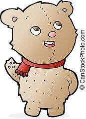 cartoon cute teddy bear with scarf