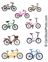 cartoon, cykel