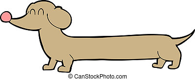cartoon dachshund