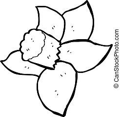 cartoon daffodil