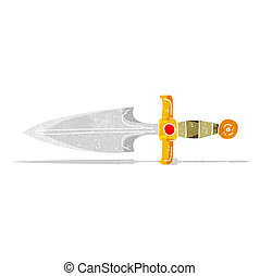 cartoon dagger