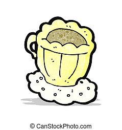 cartoon dainty tea cup
