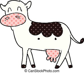 cartoon dairy cow