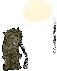 cartoon dancing bear