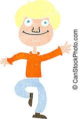 cartoon dancing man
