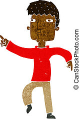cartoon dancing man