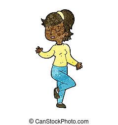 cartoon dancing woman