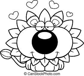 Cartoon Dandelion Lion Love