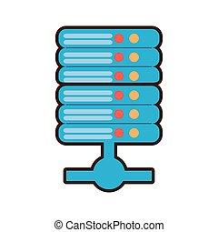 cartoon data server computer storage system vector ...