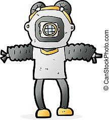 cartoon deep sea diver