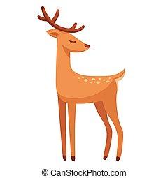 Cartoon deer drawing