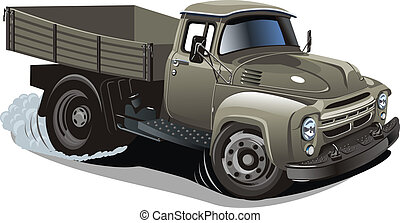 Cartoon delivery / cargo truck