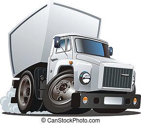 cartoon delivery / cargo truck