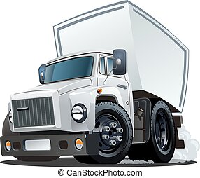 Cartoon delivery or cargo truck - Vector Cartoon Truck. ...
