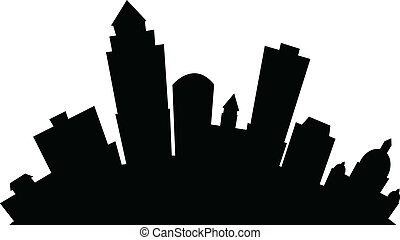 Cartoon Des Moines - Cartoon skyline silhouette of the city ...
