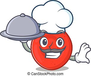 cartoon design of erythrocyte cell as a Chef having food on ...