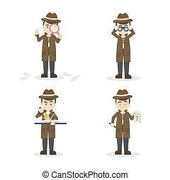 Cartoon detective set.