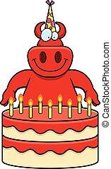 Cartoon Devil Birthday