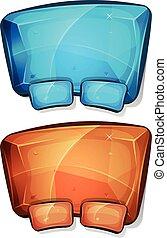 Cartoon Diamond Panel For Ui Game