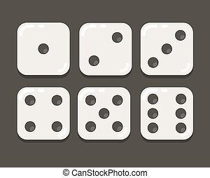 Cartoon dice illustration