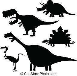 Cartoon Dinosaur Set