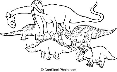 cartoon dinosaurs coloring page