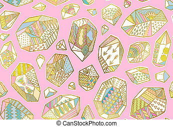 Cartoon dinosaurs seamless pattern for kid