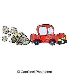 cartoon dirty old car