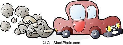cartoon dirty old car
