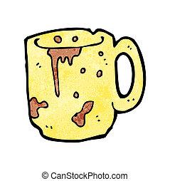 cartoon dirty old mug