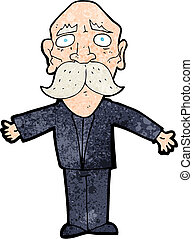 cartoon disapointed old man
