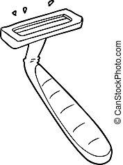cartoon disposable razor