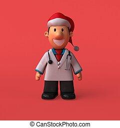 Cartoon doctor - 3D Illustration