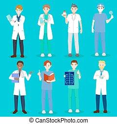 cartoon doctor and nurse
