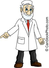 Cartoon doctor in white coat