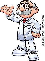 Cartoon doctor. Vector clip art illustration with simple...