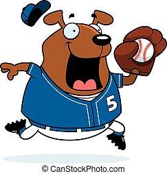 Cartoon Dog Baseball