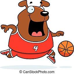Cartoon Dog Basketball