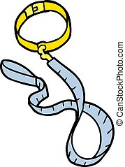 cartoon dog collar and leash